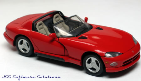 PhillyMint Diecast - Danbury Mint 1996 Dodge Viper RT/10 Red Car Collectors' Club 1:24th Scale ...