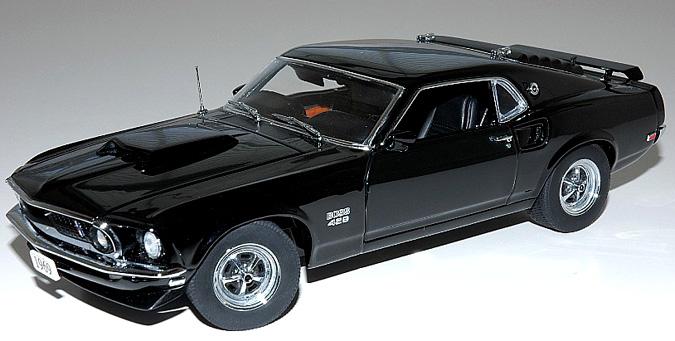 Danbury Mint 1969 Mustang Boss 429 Black 1:24 model