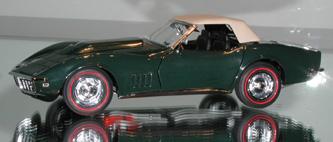 Corvette Stingray Years Production on Danbury Mint   1968 Corvette Convertible   Dm Discontinued   1 24th