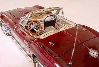 Corvette Stingray on Phillymint Danbury Mint 1965 Corvette Stingray Roadster Milano Maroon