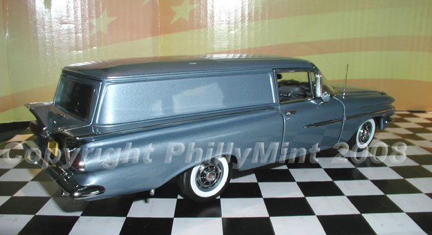 Phillymint Diecast West Coast 1959 Chevrolet Sedan Delivery Frost Blue Limited