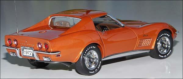 phillymint danbury mint  corvette  top coupe ontario orange  diecast model