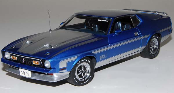 PhillyMint-Danbury Mint 1971 Ford Mustang Mach 1 Blue ...