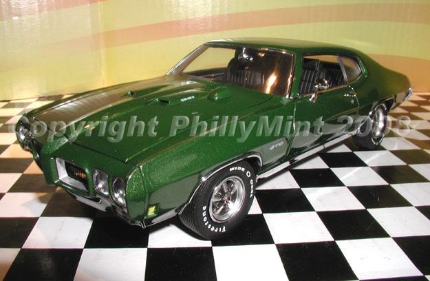 How Much Is A Transmission >> PhillyMint Diecast - GMP 1970 Pontiac GTO Pepper Green Limited Edition 500 1:24th Scale Diecast ...