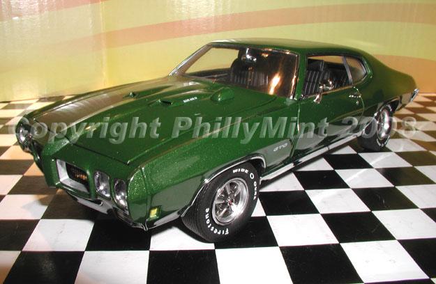 Phillymint Diecast Gmp 1970 Pontiac Gto Pepper Green