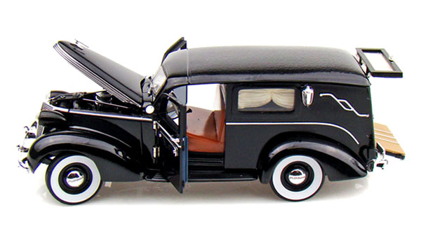 The Car Shop >> PhillyMint Diecast - Unique 1937 Studebaker Hearse Wagon With Flowers and Casket Black 1:24th ...