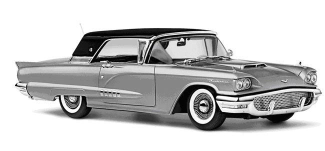 Phillymint Diecast Danbury Mint 1958 Ford Thunderbird